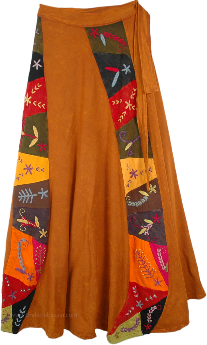 Fall Harvest Wrap Around Skirt