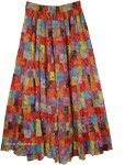 Spiced Cider Multi Color Floral Maxi Skirt