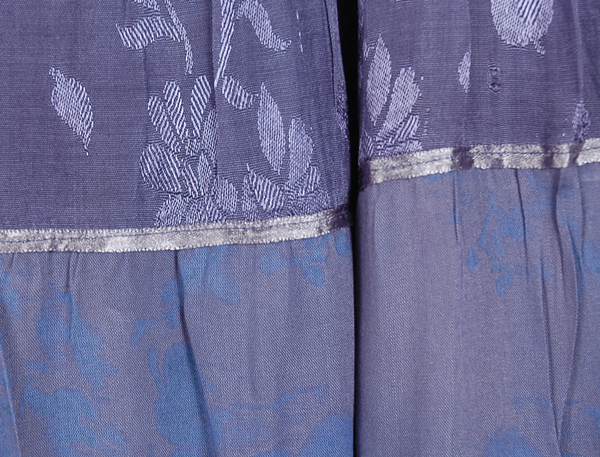 Blue Violet Full Long Skirt Elastic Waist