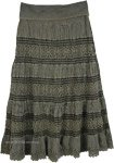 Camouflage Net Hippie Maxi Long Skirt