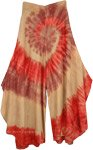 Spiral Tie Dye Curved Hem Divided Skirt