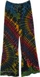 Festival Tie Dye Rainbow Pants For Women Yoga