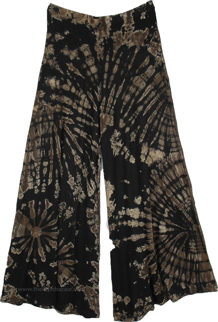 Shadow Tie Dye Rayon Stretchy Palazzo Trousers