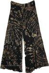 Shadow Tie Dye Rayon Stretchy Palazzo Trousers