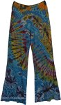 Teal Tie Dye Trousers Sweet Yoga Pants