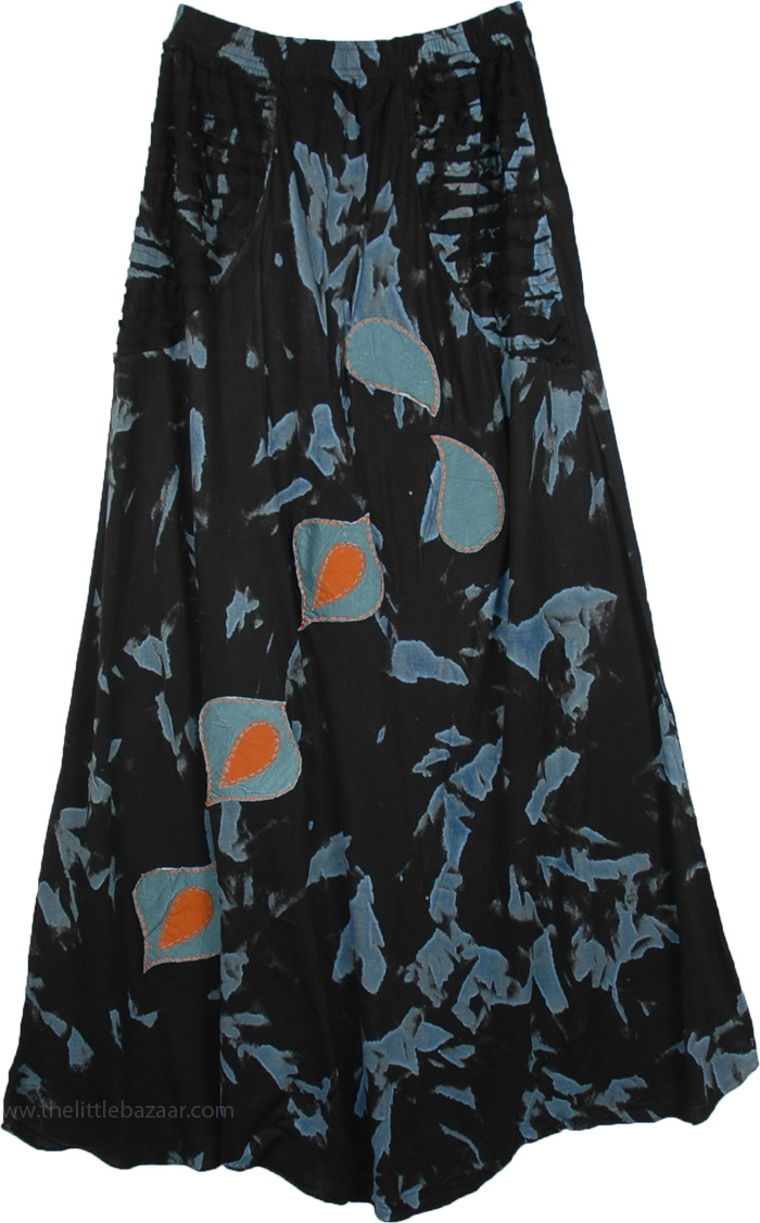 Romani Black Maxi Tall Skirt For Women