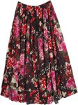 Carnation Printed Cotton Summer Vacation Skirt