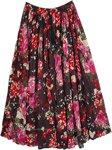 Carnation Printed Cotton Summer Vacation Skirt