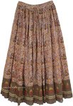 Gypsy Printed Casual Long Skirt in Dense Floral