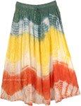 Solar Flares Tinsel Tie Dye Boho Summer Skirt
