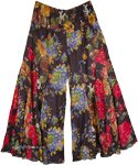 Wide Leg Cotton Culotte Pant in Wild Jungle Floral