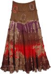 Ironstone Dip Tie Dyed Tiered Long Skirt