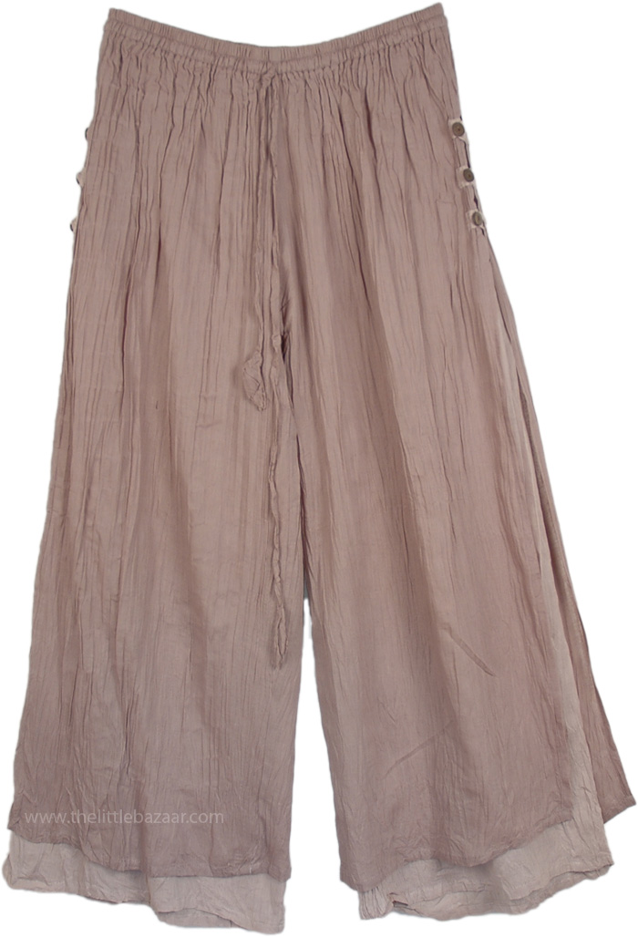 Almond Frost Double Layer Linen Pants