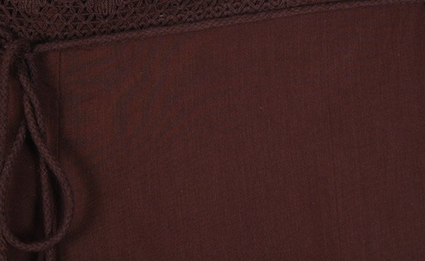 Cocoa Brown Cotton Wide Leg Pull On Pants