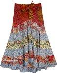 Flowery Patch-Work Skirt with Stylized Yoke