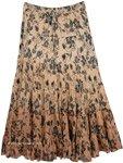 Browny Peach Cotton Maxi Skirt