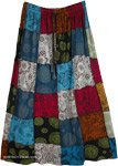 Mandara Elastic Waist Cotton Patchwork Skirt