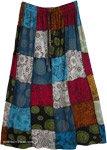 Mandara Elastic Waist Cotton Patchwork Skirt
