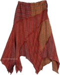 Free and Easy Boho Summer Cotton Skirt in Copper Rust
