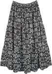 Floor Length Cotton Printed Summer Skirt in Floral