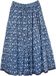 Bunting Blue Pull-On Cotton Summer Skirt