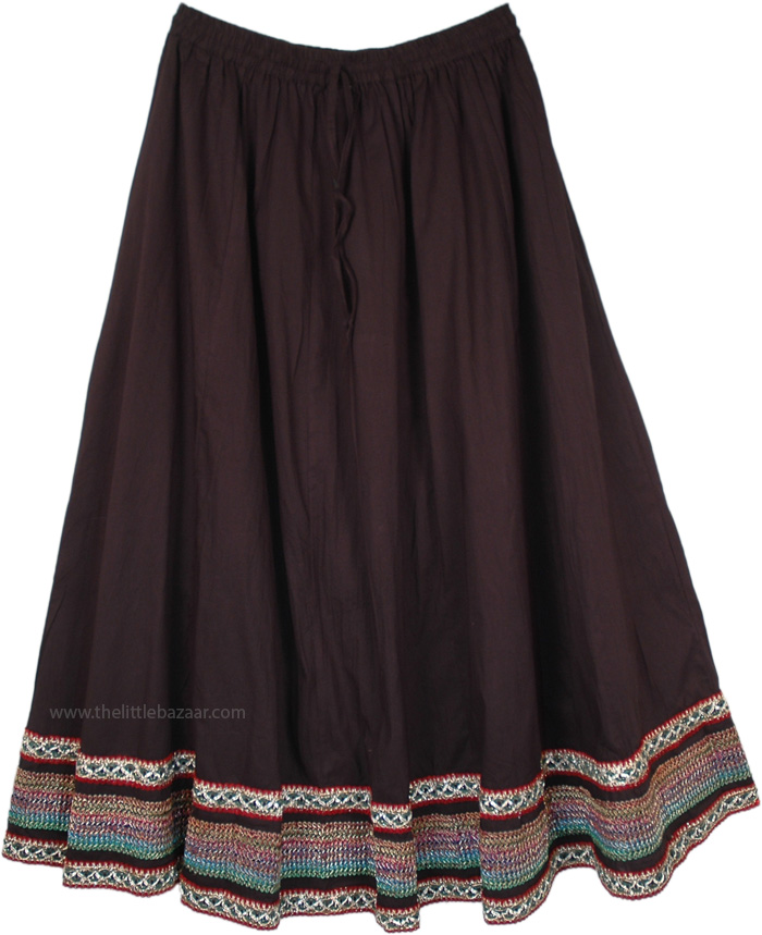Chic Gypsy Braided Holiday Border Skirt
