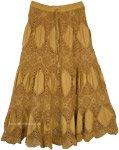 Tussock Gold Crochet Cotton Summer Skirt