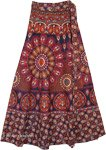 Jacarta Red Gypsy Flower Skirt with Wrap Waist