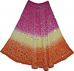 Summer Tie Dye Sequin Long Skirt