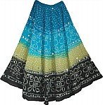 Indian Tie Dye Sequin Long Skirt