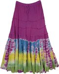 Passion Purple Tiered Gypsy Skirt Tie Dye Plus Size