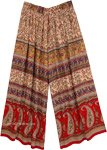 Paisley Pattern Gypsy Loose Fit Palazzo Pants