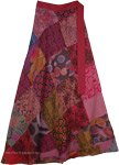 Burgundy Pink Hippie Wrap Skirt Cotton Wrap For Summer