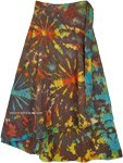 Color Splash Tie Dye Cotton Petite Wrap Skirt