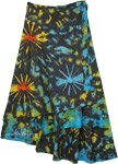 Plus Size Roma Summer Tie Dye Cotton Long Wrap Skirt