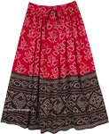 Ethnic Printed Rayon Everyday Street Womens Skirt
