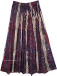 Marble Tie Dye Rayon Boho Street Wear Summer Long Skirt