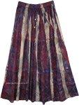 Marble Tie Dye Rayon Boho Street Wear Summer Long Skirt