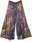 Boho Festival Hippie Colorful Wide Legs Pants