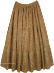 Raw Sienna Earth Tone Summer Cotton Maxi Long Skirt