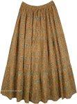 Raw Sienna Earth Tone Summer Cotton Maxi Long Skirt
