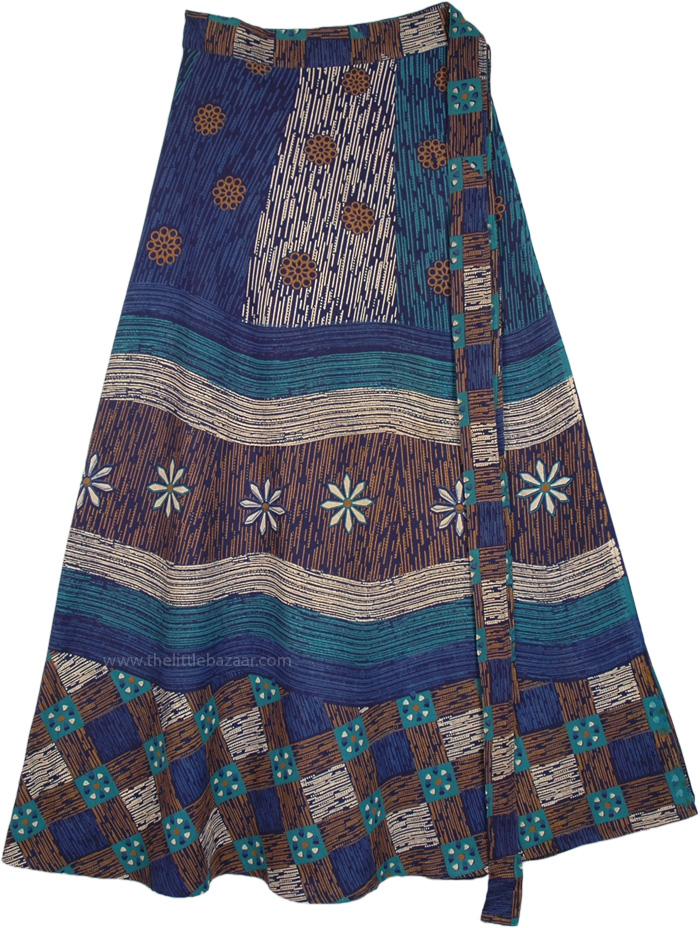 Tribal Africana Inspired Boho Cotton Wrap Skirt
