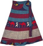 Petite Long Desert Boho Summer Cotton Wrap Skirt