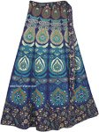 Hippie Hues Maxi Mandala Cotton Wrap Skirt