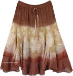 Barn Dance Western Skirt in Rayon Mid Length Skirt