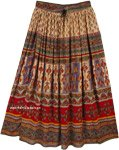 Tribal Gypsy Maxi Rayon Skirt Floral Street Wear