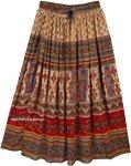 Tribal Gypsy Maxi Rayon Skirt Floral Street Wear