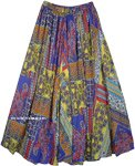 Gypsy Boho Party Vibes Big Sweep Printed Summer Skirt
