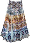 Beach Inspired Floral Prints Hippie Cotton Long Skirt