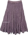 Empress Lavender Hippie Full Crochet Skirt Cotton